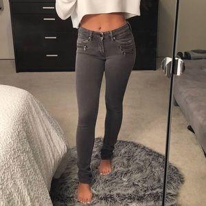 H&M Dark Grey Motor Jeans